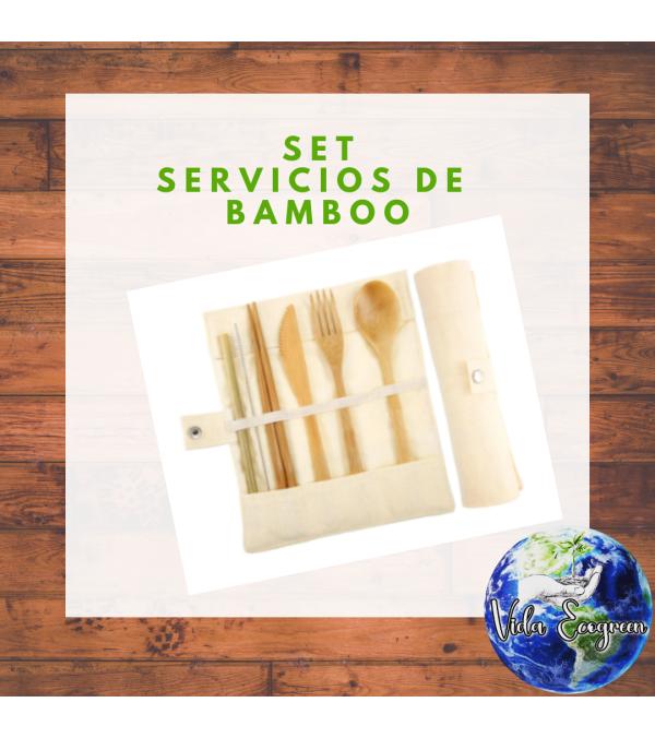 Set de servicios de bamboo