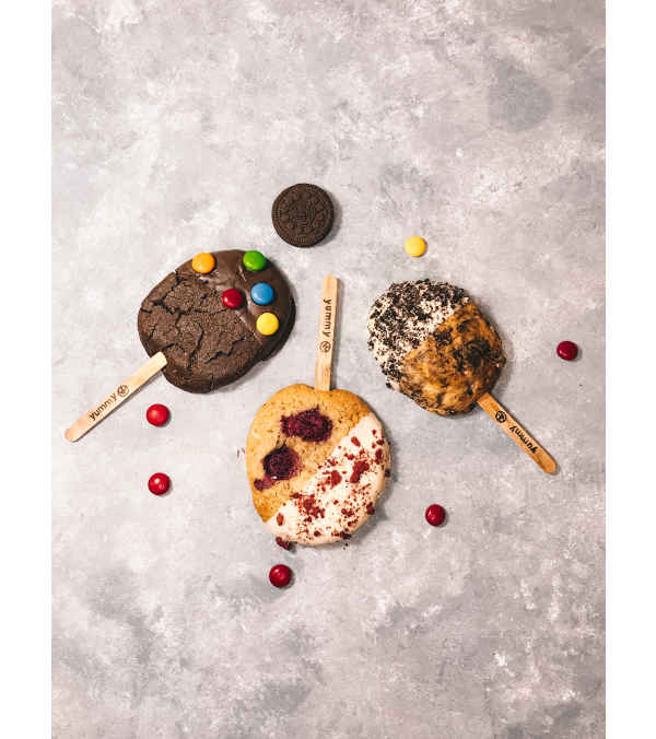 Galletas Cookie paletas - 3 paletas