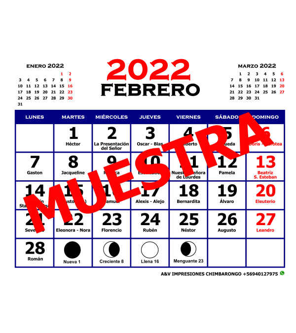 Diseño Calendario Mensual 2022 - Formato Pdf - Jpg