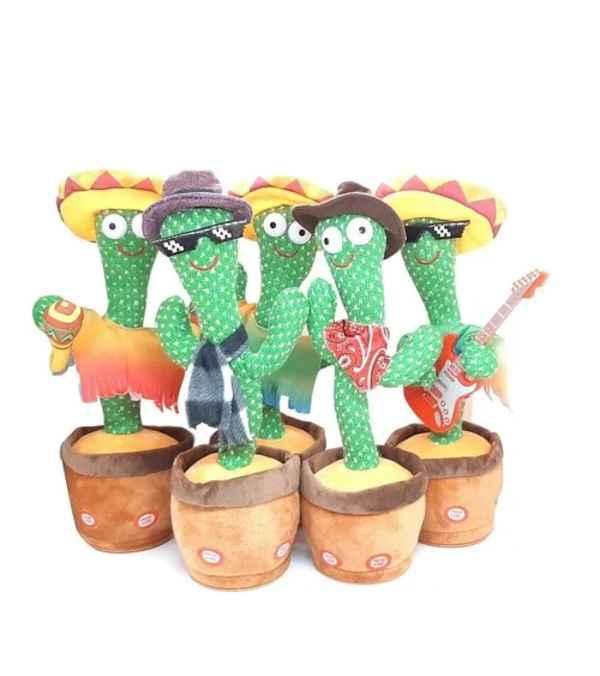 Cactus Bailarín De Peluche Con Repetidor De Voz Y Música