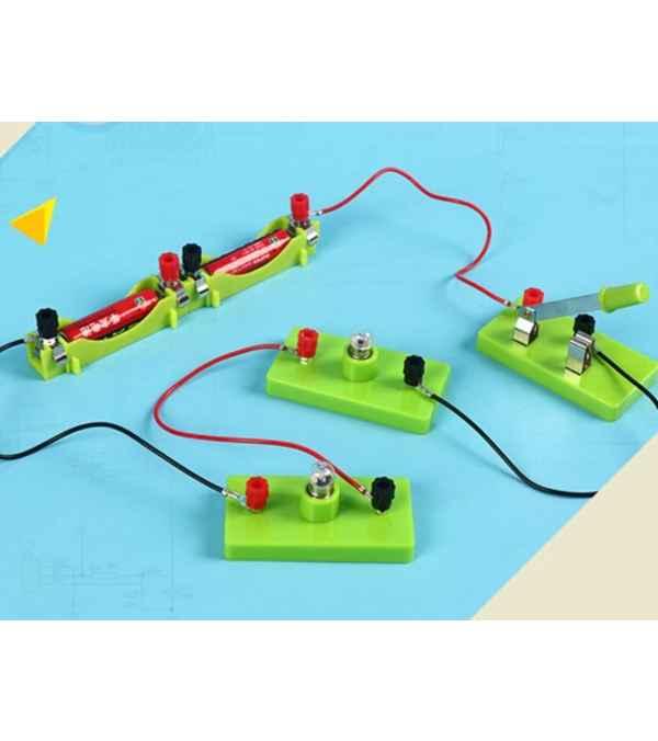 Juguete de Ciencia para Niños, circuito básico, aprendizaje de electricidad, física, juguetes educativos para niños, experimento STEM, juguetes de habilidad Juguete de Ciencia para Niños