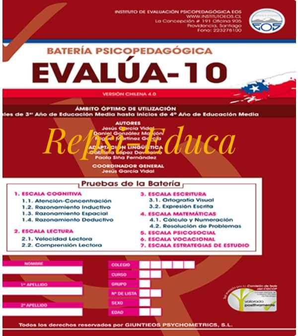 EVALÚA 10  Set c/n 10 tests