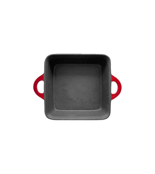 Budinera de hierro fundido cuadrada 25cm - Rojo