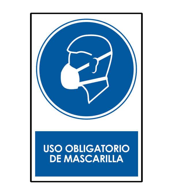 SEÑALETICA USO OBLIGATORIO MASCARILLA