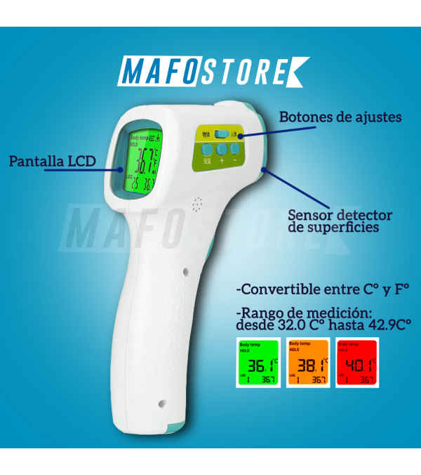 Termometro Digital Infrarrojo Sin Contacto