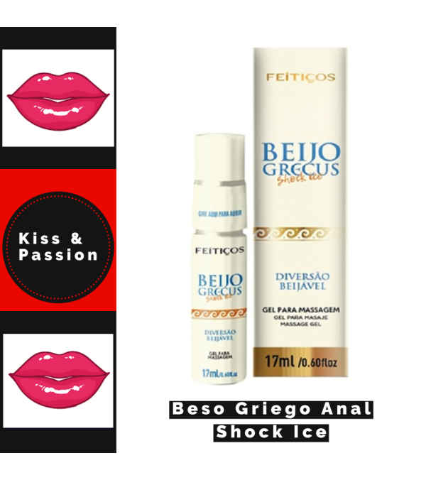 """Lubricante anal """" Beso Griego Shock Ice """""""