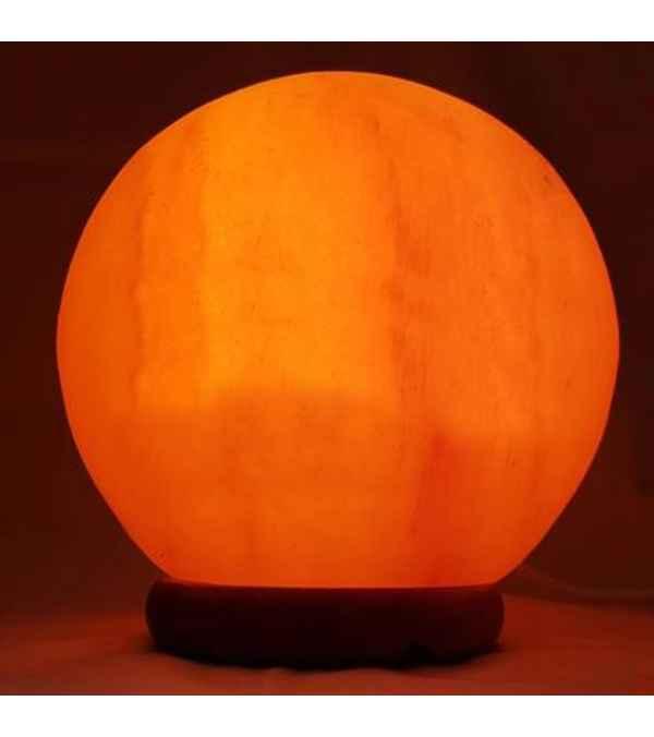 Lampara Esfera De Sal Rosa Del Himalaya - Diseño Eclipse