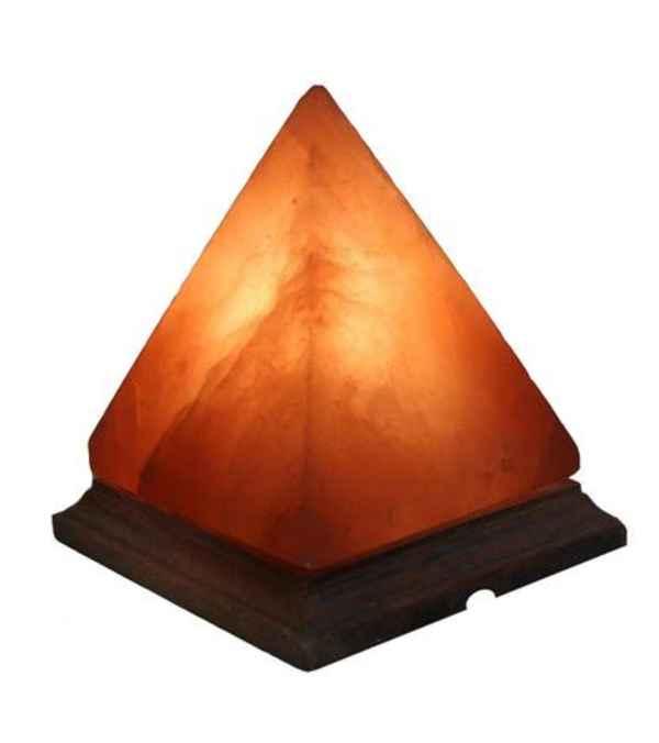 Lampara Sal Rosa Del Himalaya Pirámide Energía Ambiente