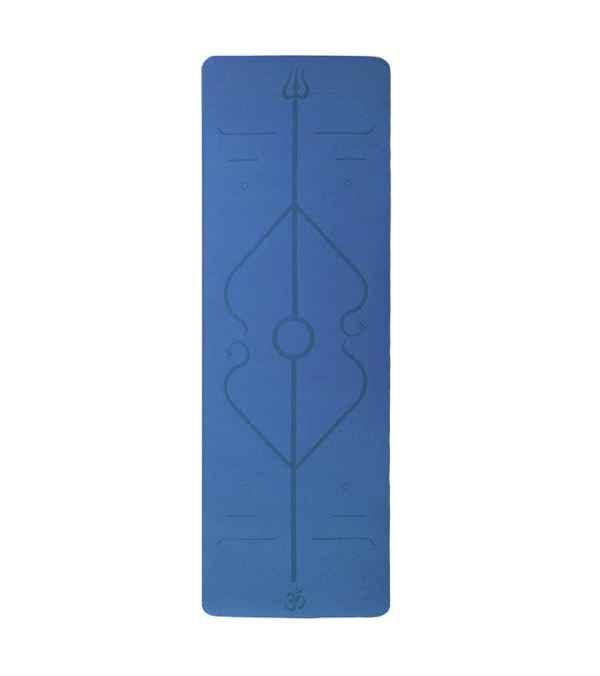Mat de yoga pilates color celeste 183x60x0,6cm