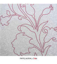 Papel Mural Diseño Flor Roja | Schoner