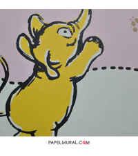 Papel Mural Diseño Infantil Elefante | Manekin