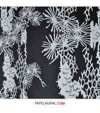 Papel Mural Textura Blanco y Negro | LIVE IT
