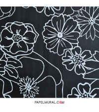 Papel Mural Flor Negra | LIVE IT