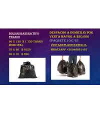 Bolsa Basura tipo pesado 90x110 (tarro municipal)
