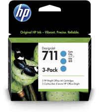 Cartucho HP 711 - Pack 3 unidades Cyan