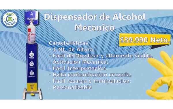 Dispensador Mecanico de Alcohol Gel