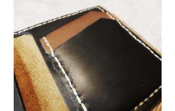 billetera 100% cuero hecha a mano
