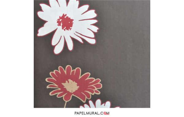 Papel Mural Flores Rojo/Blanco   Avenzio ll