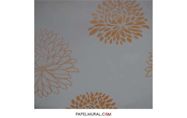 Papel Mural Flor Naranja | DESIRE