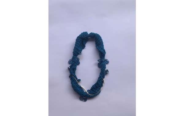 collar, cuello lana merino Joyerìa textil (a040)