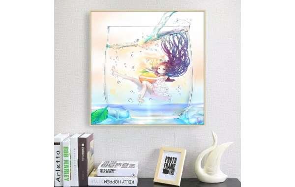 Pintura de Diamantes Diamond Painting Danza del Agua 30x30 cms