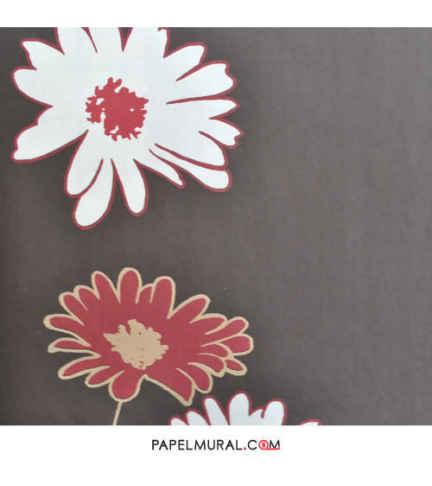 Papel Mural Flores Rojo/Blanco | Avenzio ll