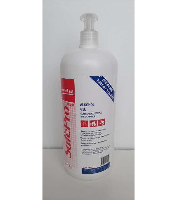 Alcohol Gel SafePro con dosificador Formato 1 LT