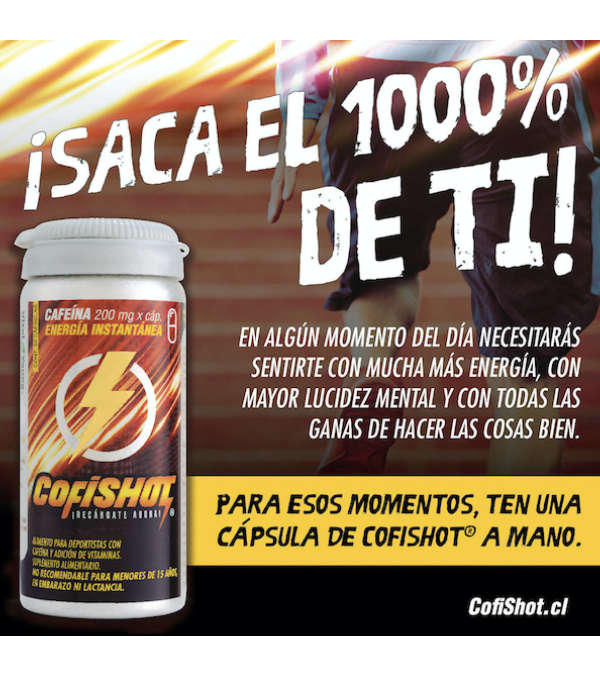 Cafeína Cofishot 200 mg.