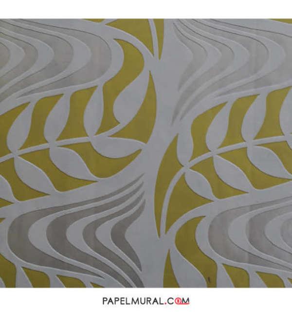 Papel Mural Ondas Amarillas | Jade