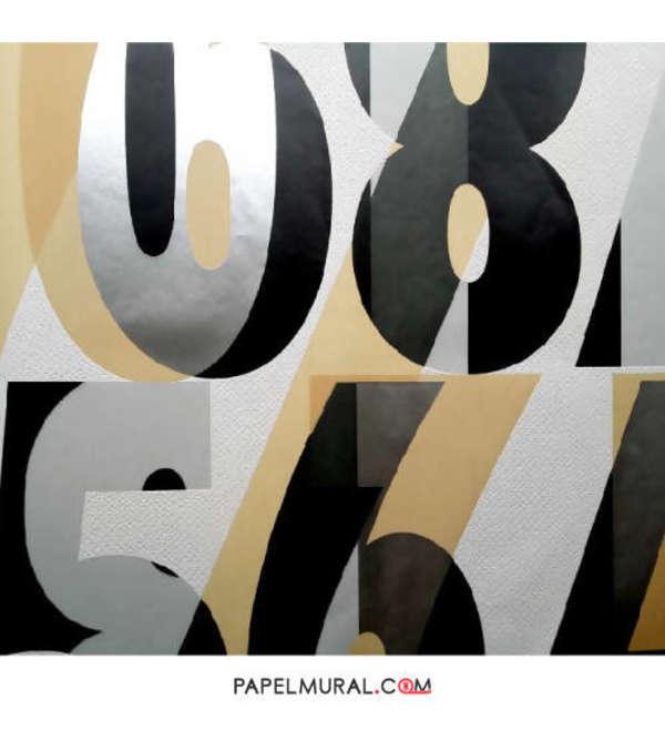 Papel Mural Diseño Números | Alice Whow