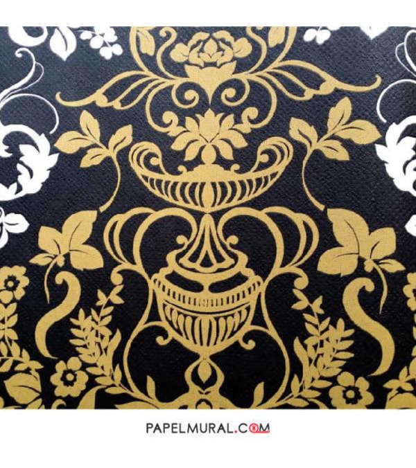 Papel Mural Diseño Ornamental Amarillo | Alice Whow