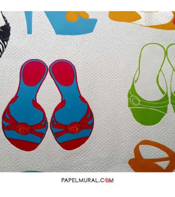 Papel Mural Diseño Calzados | Alice Whow