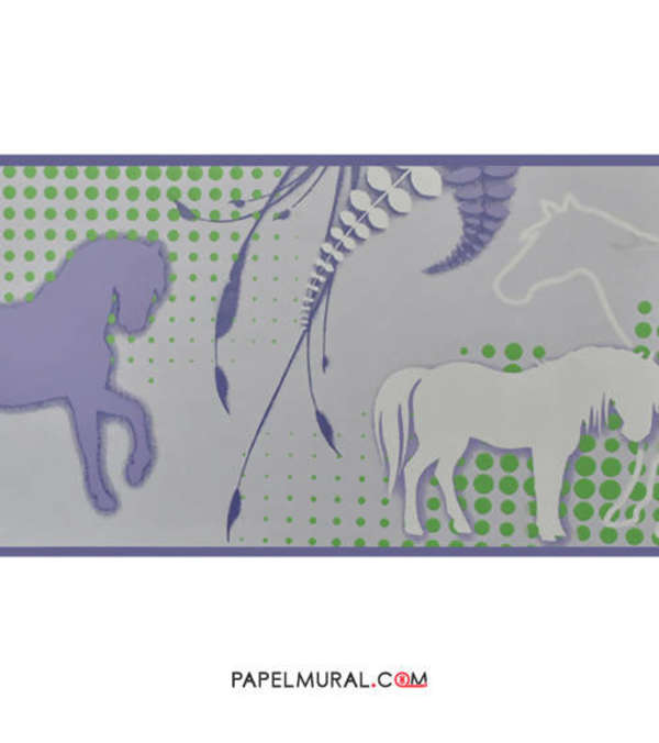 Papel Mural Guarda Infantil Caballos | Manekin