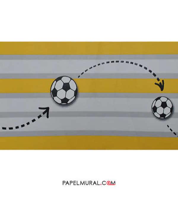 Papel Mural Guarda Infantil Fútbol | Manekin