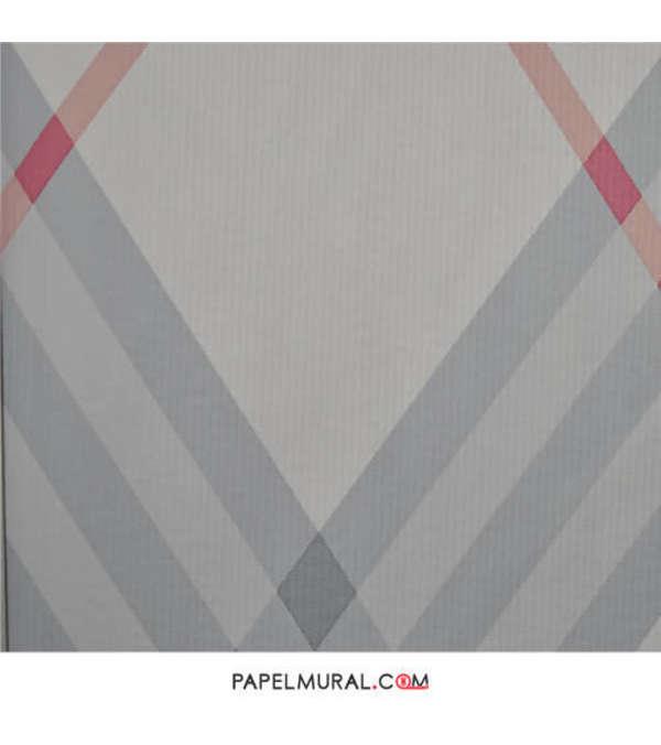 Papel Mural Diseño Geométrico Blanco | Contzen ll
