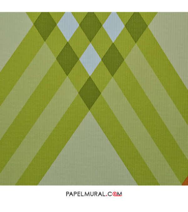 Papel Mural Diseño Geométrico Verde | Contzen ll