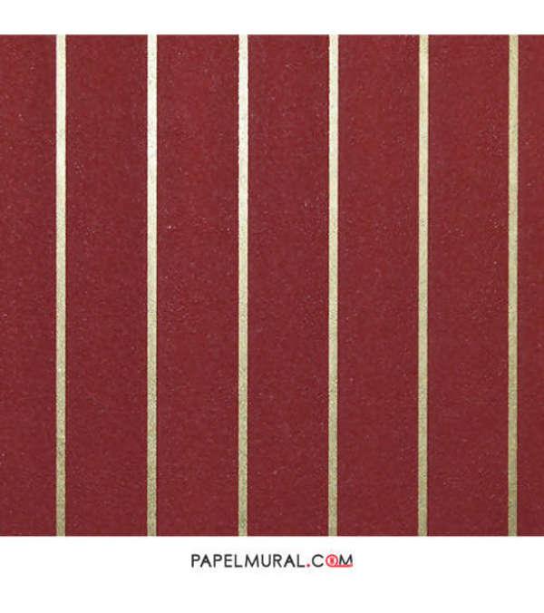 Papel Mural Lineas Verticales Rojo | Schoner