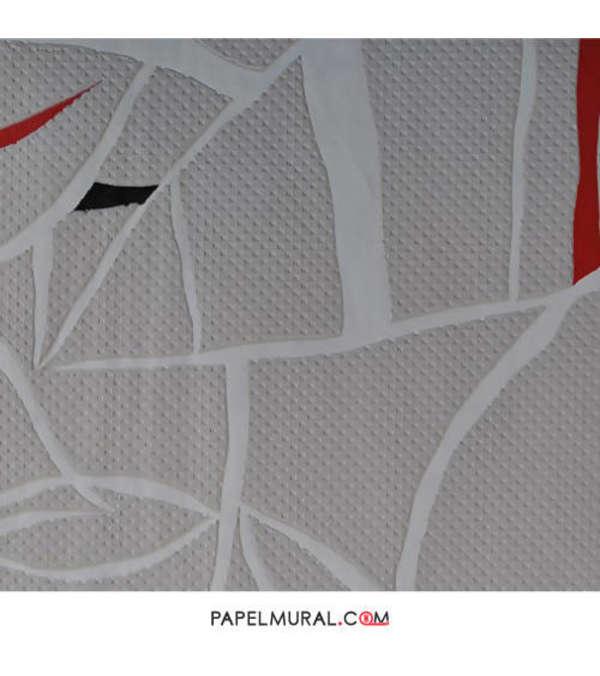 Papel Mural Lineas Blancas | Alice Jeans
