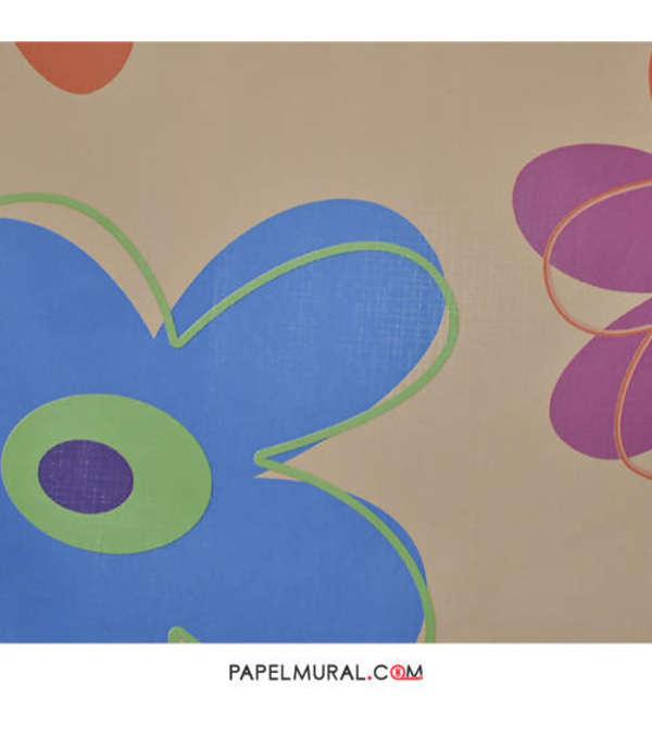 Papel Mural Flores Infantil | RETRO