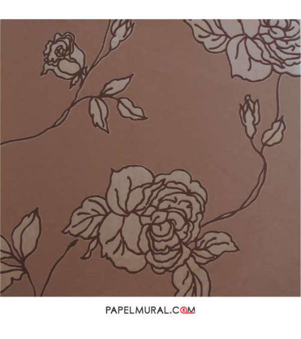 Papel Mural Rosa Café | FLOCK