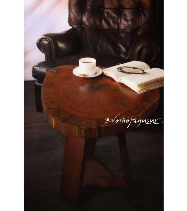 Mesa de madera nativa y resina epóxica
