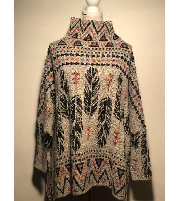 Capa lana étnica