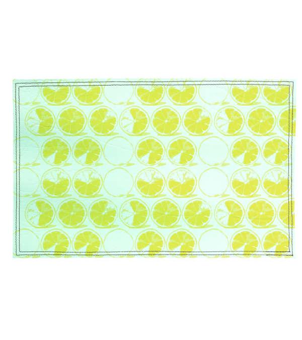 Individuales Limones 4 unidades ecocuero