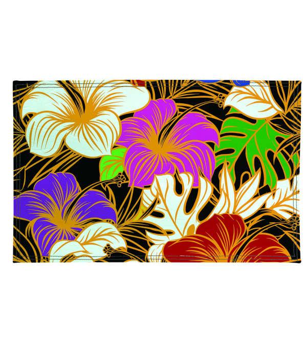 Individuales flores de colores 4 unidades eco-cuero