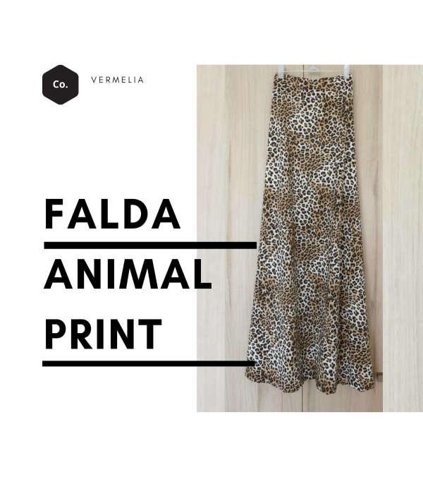 Falda Larga Animal Print