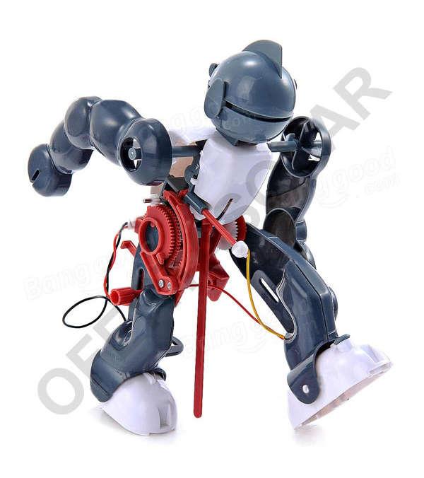 Robot Bailarín a pilas Armable para niños, modelo Tumbling Robot Cute SunLight 2123