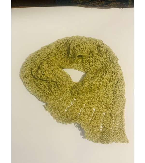 cuello tejido hilo de lino (a055)