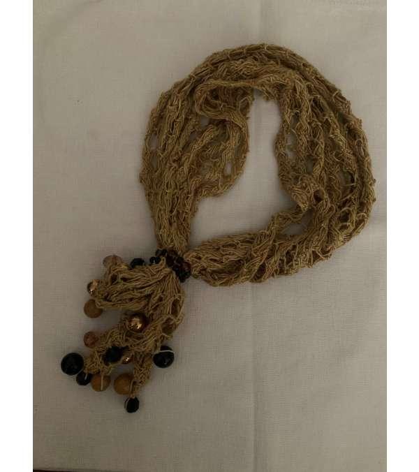 cuello tipo collar en seda Joyeria textil (a036)