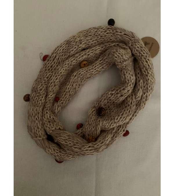 cuello, collar algodón Joyerìa textil (a042)