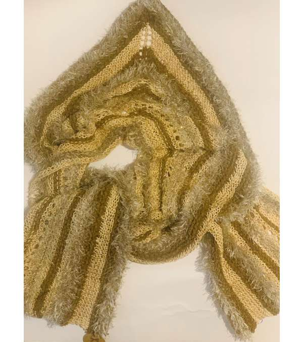 bufanda tejida, hilo, terciopelo, seda (A044)